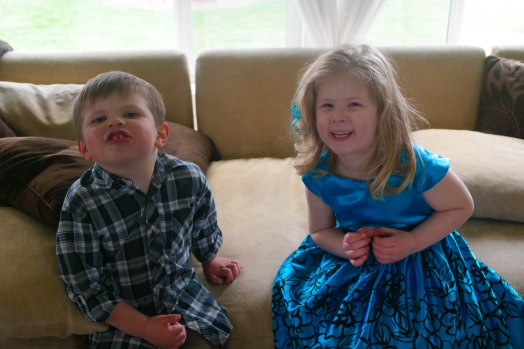 Bonnie Jean and cousin Phineas being happy